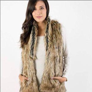 Grace & Lace Faux Fur Vest with Pockets Small